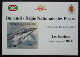 Poštovní známka Burundi 2012 Velrybka malá DELUXE Mi# 2838 B Block