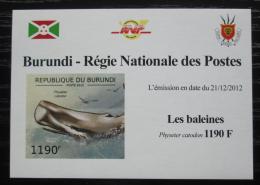 Poštovní známka Burundi 2012 Vorvaò obrovský DELUXE Mi# 2839 B Block