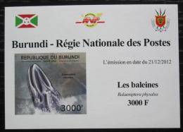 Poštovní známka Burundi 2012 Plejtvák myšok DELUXE Mi# 2840 B Block