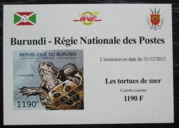 Poštovní známka Burundi 2012 Kareta obecná DELUXE Mi# 2789 B Block