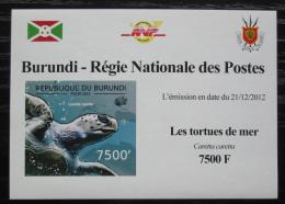 Poštovní známka Burundi 2012 Kareta obecná DELUXE Mi# 2792 B Block
