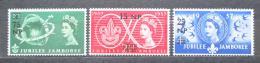 Poštovní známky Omán 1957 Setkání skautù Mi# 77-79
