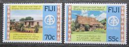 Poštovní známky Fidži 1987 Mezinárodní rok bydlení Mi# 566-67