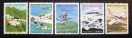 Poštovní známky Papua Nová Guinea 1981 Letadla Mi# 413-17