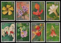 Poštovní známky Zair 1984 Kvìtiny TOP SET Mi# 853-60 Kat 20€