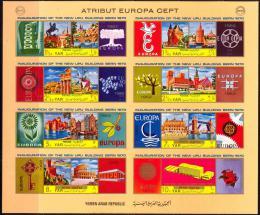 Poštovní známky Jemen 1970 Evropská mìsta, Evropa CEPT Mi# 1117-24 Kat 12€