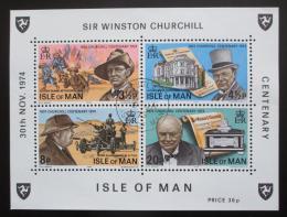 Poštovní známky Ostrov Man 1974 Winston Churchill Mi# Block 1