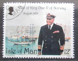 Poštovní známka Ostrov Man 1980 Král Olav V. Mi# 172