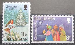 Poštovní známky Ostrov Man 1982 Vánoce Mi# 217-18