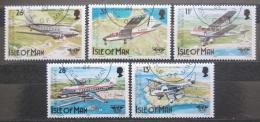 Poštovní známky Ostrov Man 1984 Letadla Mi# 256-60