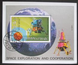 Poštovní známka Adžmán 1971 Let na Mìsíc Mi# Block 328 A