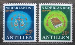 Poštovní známky Nizozemské Antily 1969 Nezávislý soud, 100. výroèí Mi# 202-03