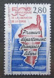 Poštovní známka Francie 1993 Mapa Korsiky Mi# 2974