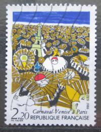 Poštovní známka Francie 1986 Benátský karneval v Paøíži Mi# 2531