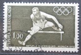 Poštovní známka Francie 1972 LOH Mnichov, bìh pøes pøekážky Mi# 1802