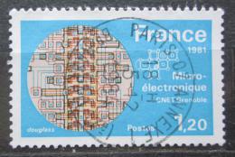 Poštovní známka Francie 1981 Mikroelektronický výzkum Mi# 2245