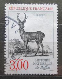 Poštovní známka Francie 1988 Jelen evropský Mi# 2677