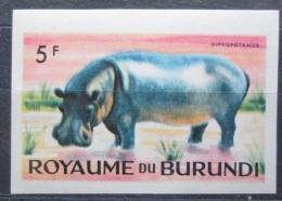 Poštovní známka Burundi 1964 Hroch obojživelný neperf. Mi# 94 B