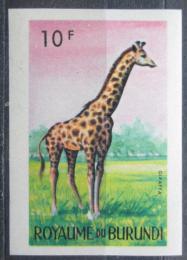 Poštovní známka Burundi 1964 Žirafa mramorovaná neperf. Mi# 97 B