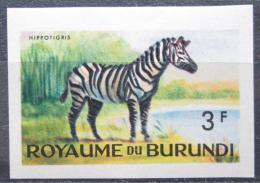 Poštovní známka Burundi 1964 Zebra stepní neperf. Mi# 91 B