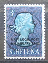 Poštovní známka Svatá Helena 1965 Královna Alžbìta II. pøetisk Mi# 164
