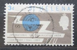 Poštovní známka Svatá Helena 1965 ITU, 100. výroèí Mi# 167
