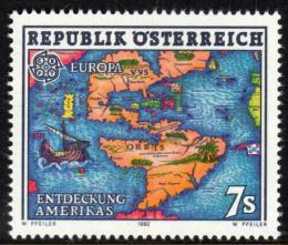 Poštovní známka Rakousko 1992 Evropa CEPT, objevení Ameriky Mi# 2062