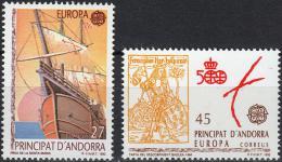 Poštovní známky Andorra Šp. 1992 Evropa CEPT, objevení Ameriky Mi# 226-27