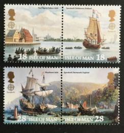 Poštovní známky Ostrov Man 1992 Evropa CEPT, objevení Ameriky Mi# 503-06 Kat 6.50€