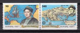Poštovní známky Øecko 1992 Evropa CEPT, objevení Ameriky Mi# 1802-03 C Kat 9€
