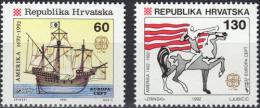 Poštovní známky Chorvatsko 1992 Evropa CEPT, objevení Ameriky Mi# 211-12