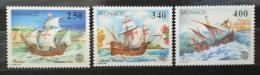 Poštovní známky Monako 1992 Evropa CEPT, objevení Ameriky Mi# 2070-72 Kat 6€