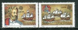 Poštovní známky Jugoslávie 1992 Evropa CEPT, objevení Ameriky Mi# 2534-35 Kat 10€