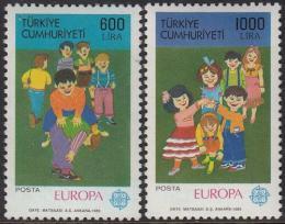 Poštovní známky Turecko 1989 Evropa CEPT, dìtské hry Mi# 2854-55 Kat 25€