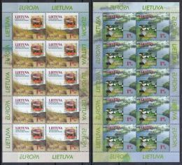 Poštovní známky Litva 1999 Evropa CEPT, národní parky Mi# 693-94 Bogen Kat 25€