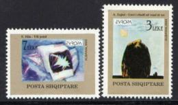 Poštovní známky Albánie 1993 Evropa CEPT, moderní umìní Mi# 2529-30