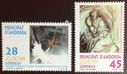 Poštovní známky Andorra Šp. 1993 Evropa CEPT, moderní umìní Mi# 232-33