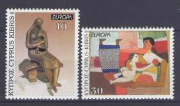 Poštovní známky Kypr 1993 Evropa CEPT, moderní umìní Mi# 803-04