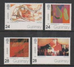 Poštovní známky Guernsey 1993 Evropa CEPT, moderní umìní Mi# 608-11