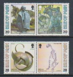 Poštovní známky Ostrov Man 1993 Evropa CEPT, moderní umìní Mi# 546-49