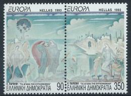 Poštovní známky Øecko 1993 Evropa CEPT, moderní umìní Mi# 1829-30 A Kat 8.50€
