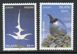 Poštovní známky Island 1993 Evropa CEPT, moderní umìní Mi# 786-87 Kat 5€
