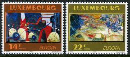 Poštovní známky Lucembursko 1993 Evropa CEPT, moderní umìní Mi# 1318-19