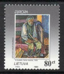 Poštovní známka Litva 1993 Evropa CEPT, moderní umìní Mi# 544