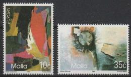 Poštovní známky Malta 1993 Evropa CEPT, moderní umìní Mi# 904-05