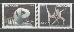 Poštovní známky Monako 1993 Evropa CEPT, moderní umìní Mi# 2120-21 A