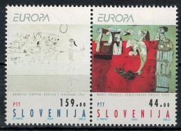 Poštovní známky Slovinsko 1993 Evropa CEPT, moderní umìní Mi# 48-49 Kat 6€