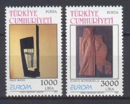 Poštovní známky Turecko 1993 Evropa CEPT, moderní umìní Mi# 2984-85