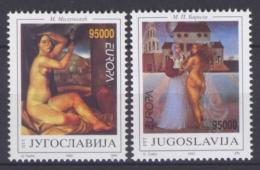 Poštovní známky Jugoslávie 1993 Evropa CEPT, moderní umìní Mi# 2603-04 Kat 6€