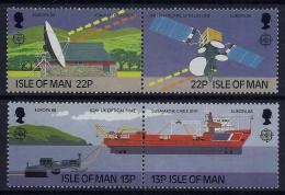 Poštovní známky Ostrov Man 1988 Evropa CEPT, transport a komunikace Mi# 367-70